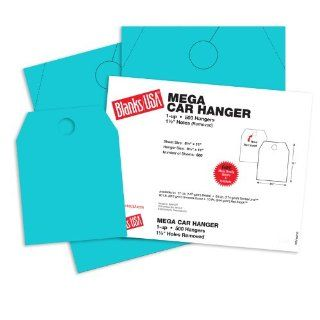 Blanks USA Robin Egg Blue Mega Car Door Hangers   8 1/2 x 11 in 65 lb Cover 500 per Package   Standard Hangers