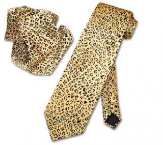 CHEETAH Animal Skin Print SILK Neck Tie HANDKERCHIEF Set Men's NeckTie at  Men�s Clothing store