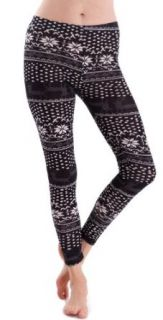 Clothes Effect Women's Snowflake Polka Dot Print Leggings at  Women�s Clothing store