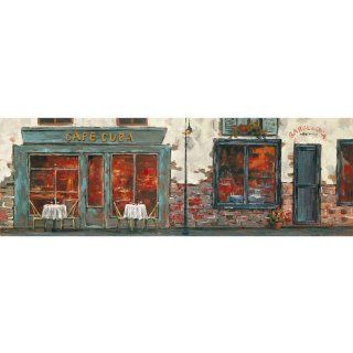 Yosemite Home Decor YG130477A Cafe Cuba Townscape Hand Painted Artwork   Oil Paintings