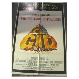EL CID / ORIGINAL U.S. ONE SHEET MOVIE POSTER (CHARLTON HESTON) CHARLTON HESTON Entertainment Collectibles