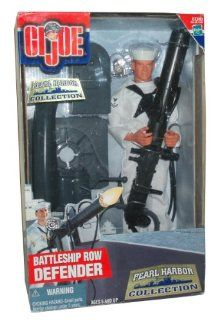GI Joe Year 2000 Echo Pearl Harbor Collection Series 12 Inch Tall Soldier Action Figure   BATTLESHIP ROW DEFENDER with Sailor Figure, Sailor Uniform with Trousers, Jumper and Neckerchief, .50 Caliber Water Cooled Machine Gun, Hat, Dress Shoes and Dog Tags