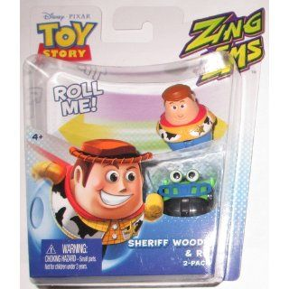 Disney Pixar Toy Story Zing'Ems   Sheriff Woody & RC 2 Pack Toys & Games