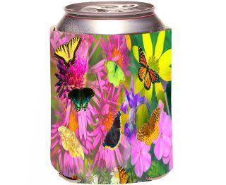 Rikki KnightTM Butterflies Design Design Drinks Cooler Neoprene Koozie Kitchen & Dining