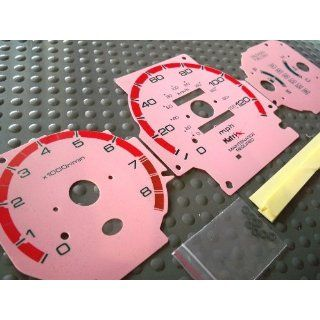 96 97 98 99 00 Honda Civic EX LX SI Automatic Transmission Cluster Gauge Faces Pink Red: Automotive