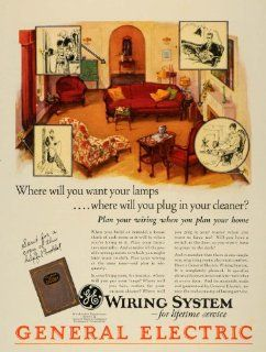 1928 Ad General Electric Wiring System Cables Home   Original Print Ad