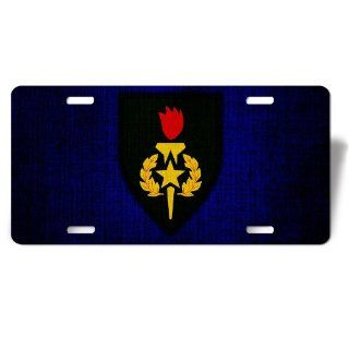 License Plate with U.S. Army Sergeants Major Academy (USASMA) insignia
