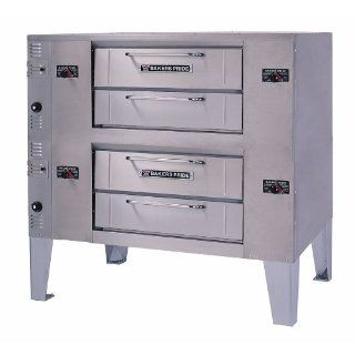Natural Gas Bakers Pride DS 990 Super Deck Double Deck Gas Pizza Oven   140,000 BTU Kitchen & Dining