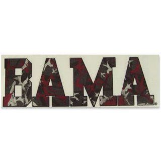 ALABAMA CRIMSON TIDE LOGO CAMO CAR WINDOW DECAL : Sports Fan Automotive Decals : Sports & Outdoors