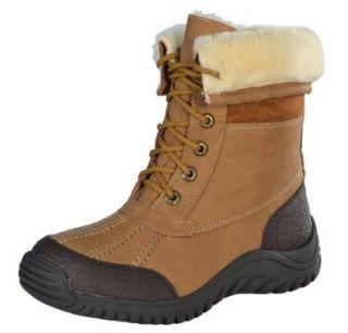 Apres by Lamo Women's Suede Faux Fur Boots Shoes Chestnut/Brown 6 Shoes