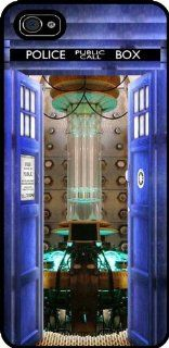 iPhone 5 Rubber Case/Cover Black. Tardis Doctor Who Open Door, iPhone 5s Open Door Design Rubber Cover/Case Black, by Sublifascination USA 43: Cell Phones & Accessories