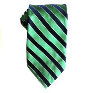 Croft & Barrow Men's Necktie Green, Navy Blue, White Striped One Size at  Men�s Clothing store