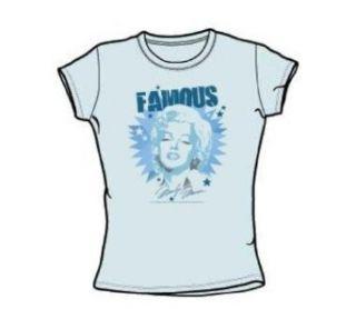 Monroe   Famous   Juniors Light Blue Sheer Cap Sleeve T Shirt For Women, Size: Small, Color: Light Blue: Clothing