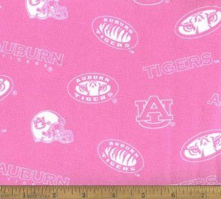 """10"""" L X 44"""" W Fabric Pink Tigers Auburn University : Other Products : Everything Else"""