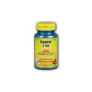 Nature's Life Copper Complex, 100 caps 2 mg(Pack of 3) Health & Personal Care
