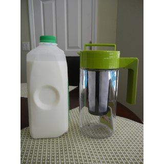 Takeya Tea Maker with Jacket, Avocado/Olive, 40 Ounce Iced Tea Pitchers Kitchen & Dining