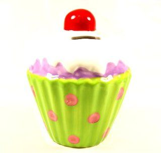 "Lavie ""Cupcake"" Coin Money Bank Green Toys & Games"