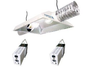 """Hydrofarm Raptor 8"""" Air Cooled Dual Lamp Reflector & SG Lite Switchable (MH/HPS) Ballast Grow Light System Combo 2000W  Plant Growing Light Fixtures  Patio, Lawn & Garden"""