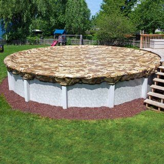 15 Year 18ft. Round Camoguard Above Ground Pool Winter Cover: Home Improvement