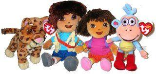 Dora the Explorer Boots Diego Baby Jaguar Plush Doll Toys & Games