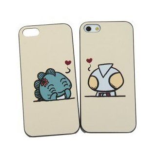 iBee Valentines Day Gifts for Her Series Smooth Fit Case for iPhone 5 Case (Cartoon Love Actually)   Beige Ultraman Manga Drawing Design (1 Set)