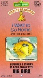 RARE SESAME STREET VINTAGE, 20 YEAR OLD VIDEO I Want To Go Home And Other Stories (Features 3 Stories To Read Along With Big Bird) **PLUS FREE 20 YR OLD, VINTAGE VHS Great Moments From Sesame Street With New Live Segments Sing Along Children's Tel