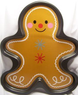 Gingerbread Man Boy Large Giant Cookie Pan, makes approximately 11 1/2 in. X 11 1/4 in. cookie: Muffin Pans: Kitchen & Dining