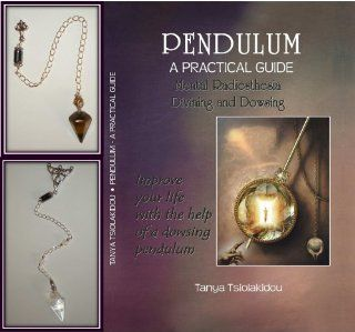 2 Dowsing Divination Crystal Pendulums Rock Crystal Quartz Tiger's Eye with Book This beautiful Dowsing Pendulum is made from polished natural Clear Quartz. The highest quality materials have been used to reveal the natural beauty of this product. The