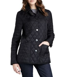 Burberry Brit Quilted Snap Coat