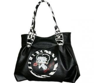 Betty Boop Black Large Purse with Zebra Pattern Clothing