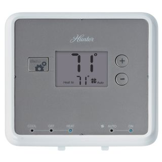 Hunter Rectangle Mechanical Non Programmable Thermostat