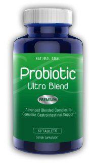 Probiotics Ultra Blend Supplement by Natural Goal™   Complete Probiotic Complex Including Bacillus Coagulans, NutraFlora� P 95 Prebiotic   Special Formula: NO Refrigeration Required   Probiotics are Recommended By Dr Oz For Men & Women   Safe &am