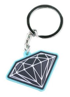 Diamond Supply Co. Rubber 3D Brilliant Orange Black Key Chain: Clothing