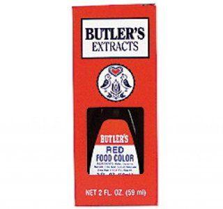 Butler's Best Red Food Coloring, Bottle, 2 fl oz : Grocery & Gourmet Food