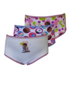 WebUndies Girls Disney Doc McStuffins Brief Panties (3 Pack): Clothing