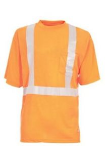 Berne Apparel HVK002 Men's Hi Visibility Class 2 S/S Pocket Tee at  Men�s Clothing store