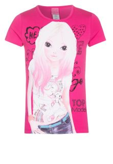 TOP Model   Print T shirt   pink