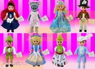 2010 McDonalds Madame Alexander Complete Sets of 8 Storybook Dolls ; Contains Alice in Wonderland , Mad Hatter , Cinderella , Prince Charming , Gretel , Hansel , Little Red Riding Hood , Wendy As the Big Bad Wolf: Everything Else