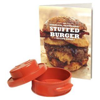 Charcoal Companion Stuffed Burger Recipe Book & Burger Press