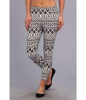 Steve Madden Aztec Rayon Printed Legging Womens Casual Pants (Black)