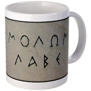 Molon Labe Mug by trackemdown