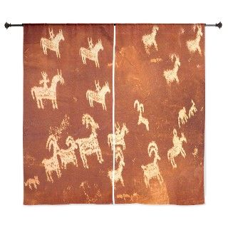 "Atlatl Rock Petroglyphs 60"" Curtains by aaanativearts"