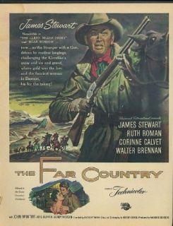 James Stewart Ruth Roman in The Far Country movie ad 1955 Entertainment Collectibles