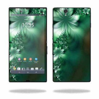 MightySkins Protective Vinyl Skin Decal Cover for Sony Xperia Z 4G LTE T Mobile Sticker Skins Abstract Flower: Cell Phones & Accessories