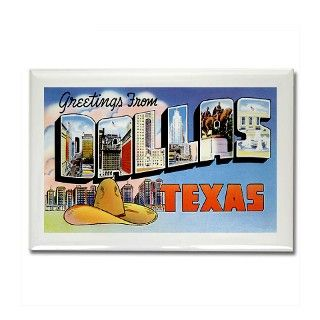 Dallas Texas TX Greetings Rectangle Magnet by greetings_from