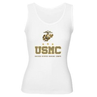 USMC   Eagle Globe Anchor Womens Tank Top by TeamWinchester