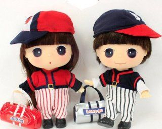 "Ddung & Bong gu 7"" Baseball Coupleⅱ Cute Doll Figure Collectible Toy Girl Kawaii Best Gift for Everyone Ship Worldwide: Toys & Games"