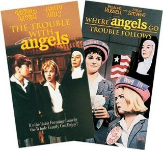 The Trouble With Angels/Where Angels Go, Trouble Follows [VHS]: Rosalind Russell, Hayley Mills, Stella Stevens, Binnie Barnes, Mary Wickes, Dolores Sutton, Milton Berle, Arthur Godfrey, Van Johnson, Robert Taylor, Susan Saint James, Barbara Hunter, Lionel