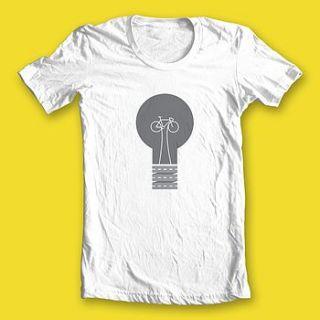 women's pedal power slim fit organic t shirt by rebecca j kaye