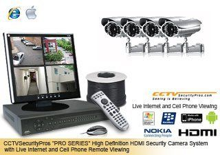 "PRO SERIES Complete 4 Camera Indoor/Outdoor Color Sony Super HAD CCD 600 Line Vari focal (5 50mm) ""EAGLE EYE"" Infrared Security Camera System with Internet and Cell Phone Viewing (CSP 4PROEE) : Surveillancesystem : Camera & Photo"